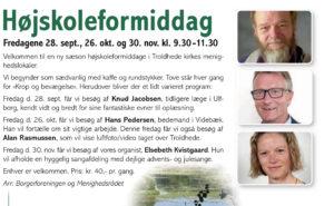 Højskoleformiddag i Troldhede Kirke's Menighedslokaler @ Videbæk   Danmark