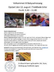 Opstart af babysalmesang @ Troldhede kirke | Videbæk | Danmark